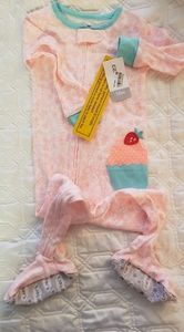 Carters, cotton footed pajamas, 18 mo, NWT